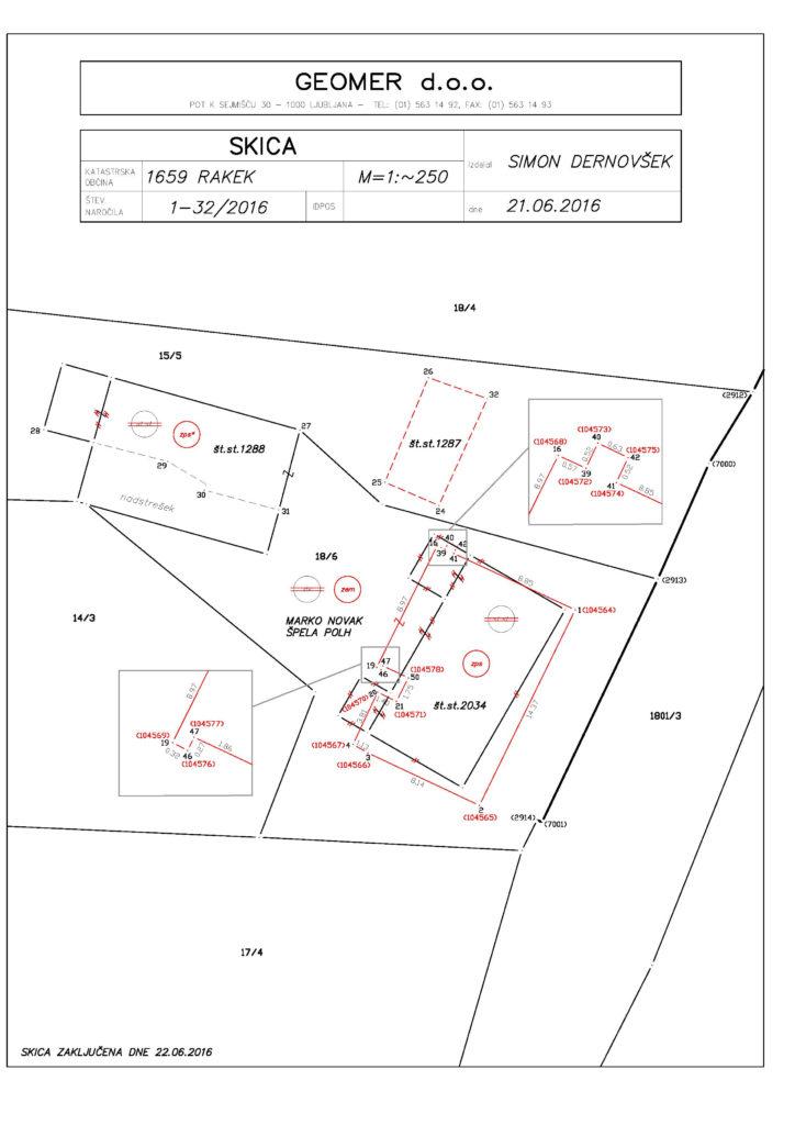 Primer - Določitev zemljišča